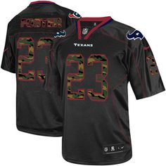 3d3ed0859fe 2013 Nike Elite Men's Houston Texans #23 Arian Foster Camo Fashion Black  NFL Jersey Online