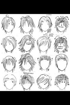 Awe Inspiring Long Anime Hair Reference Parts And Pieces Pinterest Short Hairstyles For Black Women Fulllsitofus