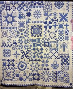 Just Takes 2 Blue, made by Dianne Barth, Pine Tree Quilters 2014 show.  Photo by North Winds Quilting
