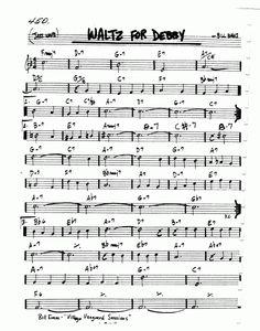 waltz_for_debby500_rbk1.gif 500×636 pixel Free Sheet Music, Piano Sheet Music, Jazz Guitar, Guitar Chords, Sax Man, Jazz Standard, Music Theory, Trumpet, Love Songs