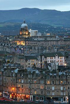 View from Carlton Hill, Edinburgh, Scotland