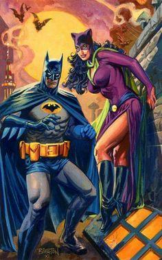 Batman & Catwoman retro