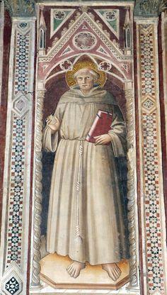 Agnolo Gaddi - Santo francescano - affresco - 1385 - Cappella Castellani - Basilica di Santa Croce a Firenze.