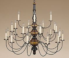 Country Chandelier with Great Colors.
