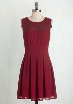 From the theatre, to dinner, to the velvet rope - wherever you go you go in style! This pretty burgundy dress proves versatile and spectacular, pulling out all the stops with ornate embroidery, a pleated skirt, and a tiered waistband, so that you can look and feel your best!