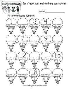 Kindergarten daily practice number worksheets: use for