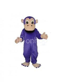 Purple Gorilla Plush Adult Mascot Costume