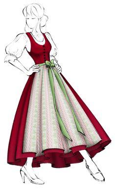 Dirndl im Grundschnitt (Modell 1) - Salzburger Heimatwerk Models, Aurora Sleeping Beauty, Disney Princess, Disney Characters, Pictures, Fabric Patterns, Hand Sewn, Cotton Textile, Linen Fabric