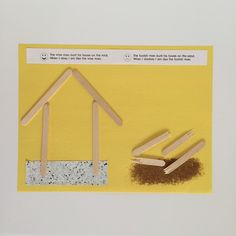 The Wise and Foolish Builder: Parable craft for preschoolers.
