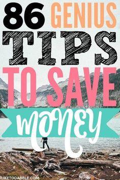 Tips to save money on bills. 86 genius tips to save money every day. Saving money. Budgeting tips. Money saving tips. Finance. Frugal living. #frugal #tipstosavemoney #savemoney