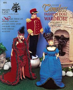 Timeless Fashion Doll Wardrobe Volume 3 - fits Barbie - Crochet Pattern Book 695.