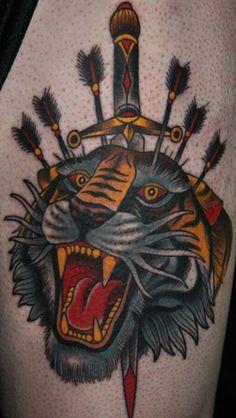 Old School Tiger Face Tattoo tiger tattoo images & designs Tiger Tattoo Images, Tiger Face Tattoo, Tiger Tattoo Design, Tattoo Designs, Head Tattoos, Body Art Tattoos, Sleeve Tattoos, Tattoo Ink, Knife Tattoo
