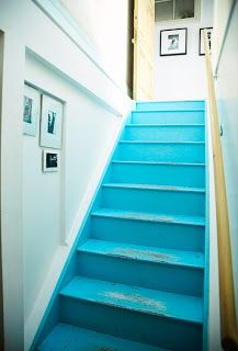 gorgeous blue stairs