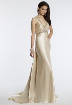 Camille La Vie Halter Dress with Criss Cross Back for Prom