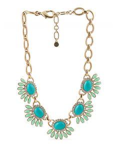 Mint And Blue Stone Necklace - BELLA JACK $29.99 - T.J. Maxx