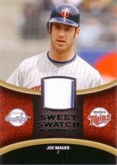 joe mauer trading cards | 2008 Upper Deck Sweet Spot Joe Mauer Game Worn Jersey Baseball Card by ...