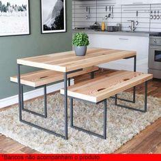 Metal Patio Furniture Diy Dining Rooms 30 Ideas For 2019 Metal Patio Furniture, Iron Furniture, Steel Furniture, Home Decor Furniture, Industrial Furniture, Table Furniture, Diy Home Decor, Furniture Design, Repurposed Furniture