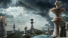 This HD wallpaper is about chess piece building artwork, digital art, fantasy art, clouds, Original wallpaper dimensions is file size is Sky Landscape, Fantasy Landscape, Digital Art Fantasy, Fantasy Art, Computer Wallpaper, Hd Wallpaper, Desktop Wallpapers, Buildings Artwork, Castle Painting