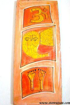 MURALS - Mural Lord Ganesha Om and Goddess Lakshmi by Store Utsav (www.storeutsav.com)