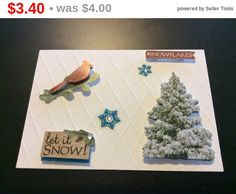 Super Sale Christmas Let it Snow card snowflakes by EMTWTT on Etsy