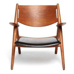 Sawbuck Lounge Chair by Hans J. Wegner For Sale at 1stdibs