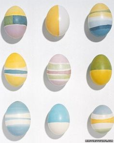 Wax-Dyed Eggs from Martha Stewart. Get the how-to by clicking through the photo!