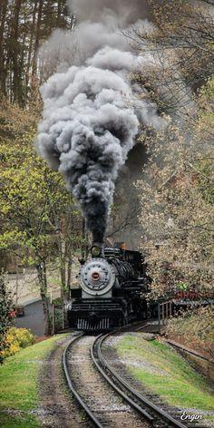 """Steam locomotive, """"Klondike Katie"""" No. Train Art, By Train, Train Tracks, Train Rides, Locomotive Diesel, Steam Locomotive, Old Trains, Train Pictures, Train Engines"""