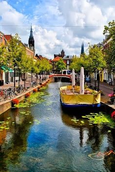 Delft, Netherlands. Delft is known for its historic town centre with canals, Delft Blue pottery, the Delft University of Technology, painter Johannes Vermeer and scientist Antony van Leeuwenhoek, and its association with the royal House of Orange-Nassau.