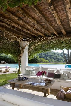 dreamy casa can mares. ibiza, spain. wouldn't mind being here..... Wouldn't mind revamping a back yard to feel like this!
