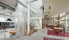 Brooklyn Artist Loft, Staircase + Dining + Studio, New York, 2011, BWArchitects