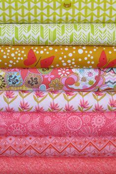 Fabricworm Custom Bundle, Spring Has Sprung in FAT QUARTERS 8 Total