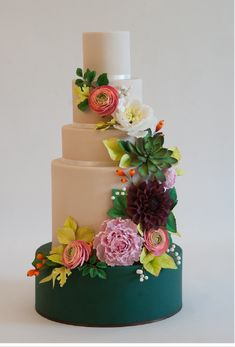 Colorful tiered cake                                                                                                                                                      More