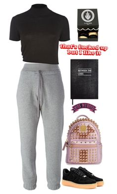 """""""Unbenannt #3158"""" by avonearth ❤ liked on Polyvore featuring adidas, River Island, NIKE, MCM, Sloane Stationery, Kreepsville 666 and Ladurée"""