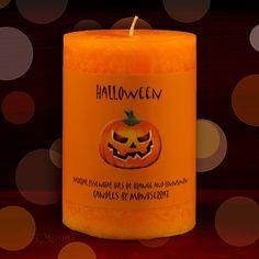 Halloween Pumpkin Candle 3x4