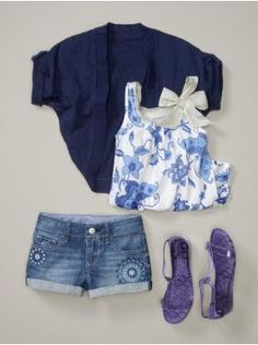 Casual, cute outfit for tween girl