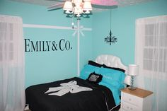 My daughter's Tiffany & Co. inspired bedroom!