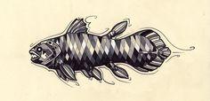 Coelacanth Tattoo Design by Tsairi on DeviantArt