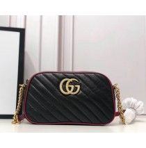 Gucci GG Marmont small matelasse shoulder bag GU447632A-black – LuxTime DFO Handbags Quilted Leather, Red Leather, Chain Shoulder Bag, Shoulder Strap, Designer Bags On Sale, Gg Marmont, Luxury Handbags, Bag Sale, Zip Around Wallet