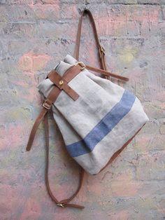 Blue Stripe Backpack by Superfield on Etsy My Bags, Purses And Bags, Boys Backpacks, School Backpacks, Striped Backpack, Anti Theft Backpack, Backpack Pattern, Rucksack Backpack, Summer Bags