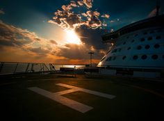 Tanning Tip for Navigator of the Seas: head to the Deck 5 helipad to enjoy a sunrise all to yourself.