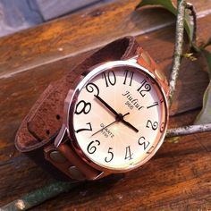 Retro Concise Rivet Leather Wrist Watch only $24.9 in ByGoods.com
