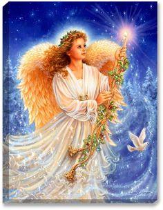 Stardust Angel - Illuminated Fine Art