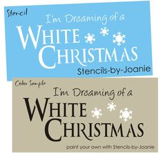 Primitive Country Stencils | STENCIL Dreaming White Christmas Seasonal Snowflakes Country Primitive ...