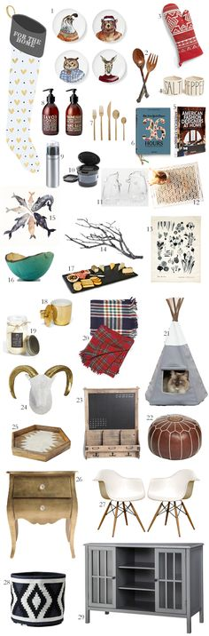Holiday gift guide for the home. Love all of it. Especially the cat teepee.