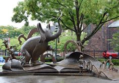 Dr. Seuss National Memorial Sculpture Garden, Springfield, Mass  Located in Seuss's hometown, the Seuss National Memorial Sculpture Garden has bronze versions of several popular Seuss characters including a 14-foot (4-meter) tall Horton the Elephant. The sculpture garden is small but Seuss fans traveling in Western Massachusetts will likely find it a nice little stop.