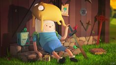 Adventure Time 3D rendering