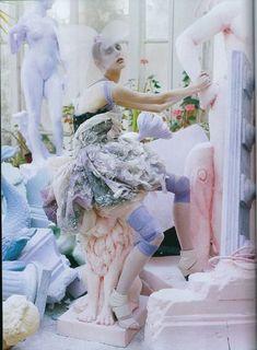 vogue italia 2008 photo shoot - twisted ballerina dress. #Artspace #Birchbox
