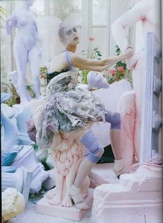vogue italia 2008 photo shoot - twisted ballerina dress. #Artspace #Birchbox