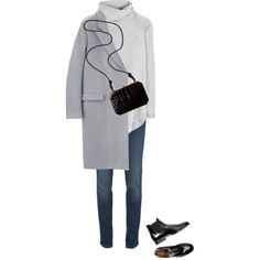 A fashion look from October 2014 featuring Chloé sweaters, RED Valentino jeans y Fendi shoulder bags. Browse and shop related looks. Winter Outfits, Cool Outfits, Casual Outfits, Indie Outfits, Preppy Style, My Style, Blazers, Lookbook, Trends