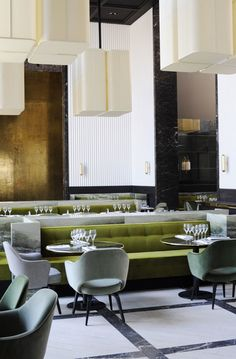| RESTAURANT | DETAILS | #Monseiur Bleu, Paris, designed by #JosephDirand